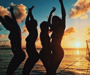girls, summer, and beach image
