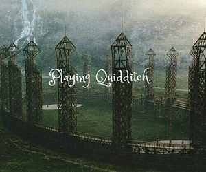 quidditch, harry potter, and hogwarts image