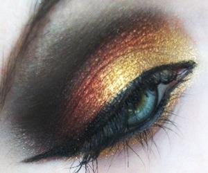 cat eye, eye make up, and eyeshadow image