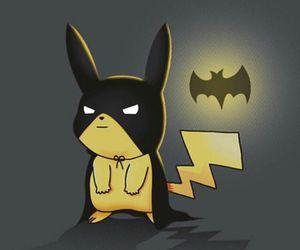 pikachu, pokemon, and batman image