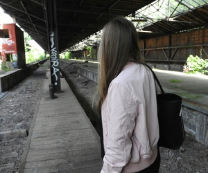 girl and lostplace image