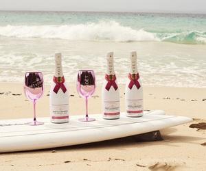 champagne, posh, and sea image
