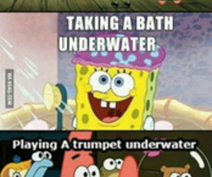 funny, spongebob, and water image