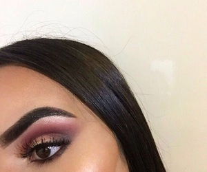 brunette, eyes, and contour image