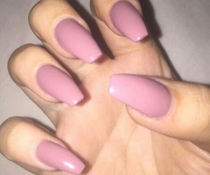 nails, pink nails, and pink image