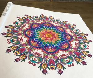 art, artwork, and mandala image