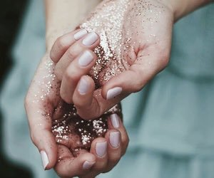 glitter, hands, and yes image