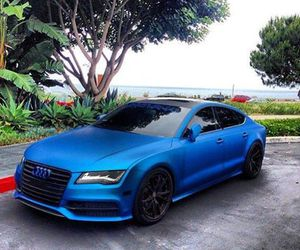 audi, blue, and beautiful image