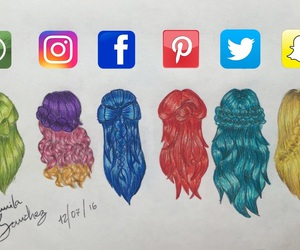 art, facebook, and hairstyles image