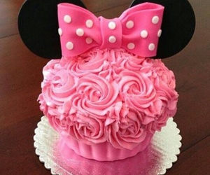 pink, food, and minnie mouse image