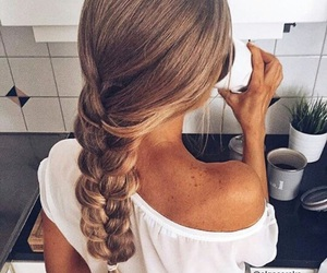 hairstyle, beauty, and braid image