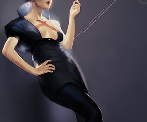 classic, illustration, and femme fatale image