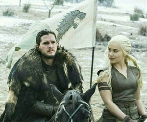 game of thrones, daenerys targaryen, and jon snow image