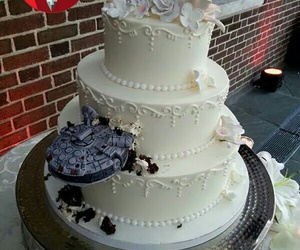 wedding cake, bolo star wars, and bolo geek image