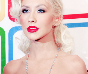 beautiful, red lips, and singer image