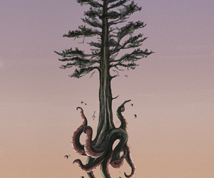 art, octopus, and tentacles image