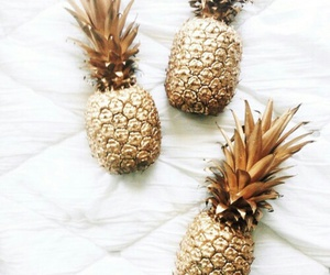 gold, pineapple, and food image