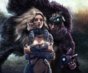 lol, kindred, and lamb image