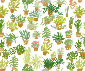 background, plant, and pattern image