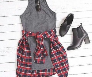 fashion, gray, and look image