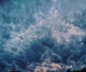 beautiful, blue, and clouds image