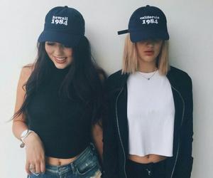 black, caps, and girls image