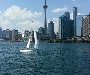 buildings, canada, and CN tower image