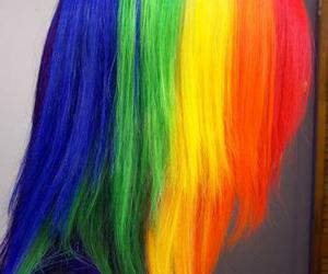 dye and rainbow hair image