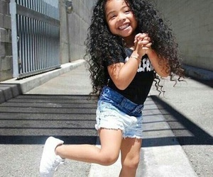baby, curls, and girl image