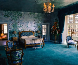 blue, room, and bedroom image