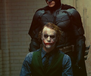 batman, joker, and heath ledger image