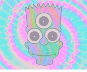 bart, creepy cute, and the simpsons image