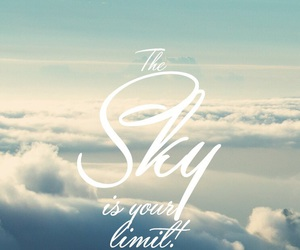 sky, limit, and clouds image
