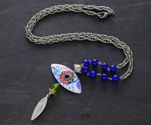etsy, evil eye necklace, and feather charm image