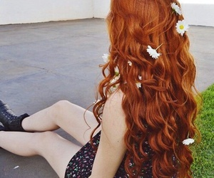 redhead, girl, and hair image