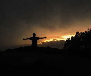 guy, photography, and sunset image