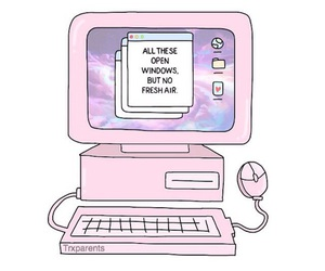 overlay, computer, and pink image