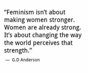 feminism, men, and quote image