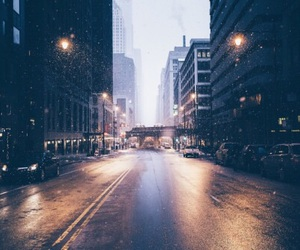 city, road, and street image