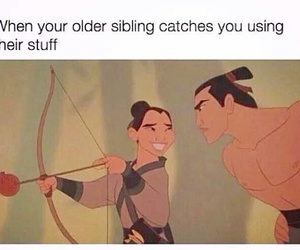 funny, disney, and mulan image