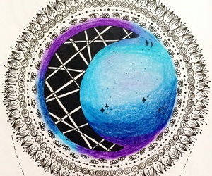 doodle, drawings, and galaxy image