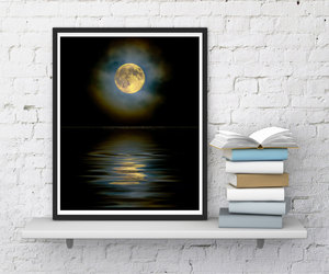 etsy, inspirational print, and moon image