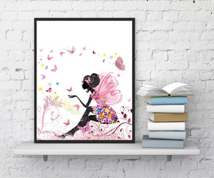 etsy, fairy, and print image