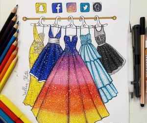 facebook, dress, and instagram image
