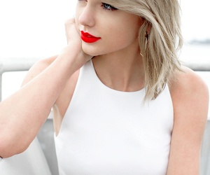 Taylor Swift, 1989, and red lips image