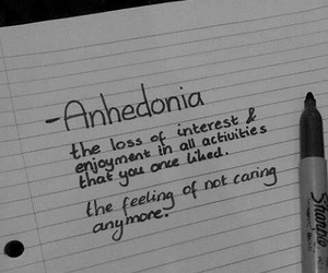 anhedonia, sad, and depression image