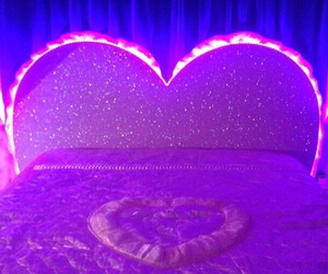 aesthetic, purple, and bed image