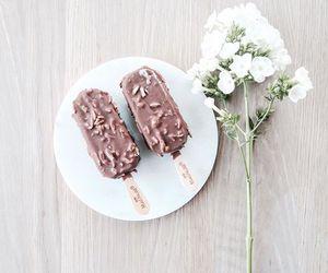chocolate, flowers, and food image