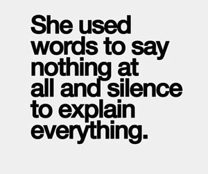 silence, words, and quotes image