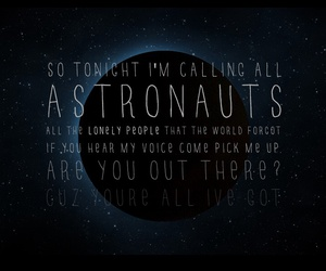 astronaut and simple plan image